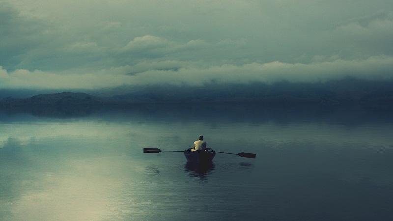 Туман и лодка